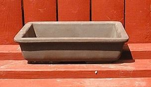 Unglazed Japanese Rectangular Pot