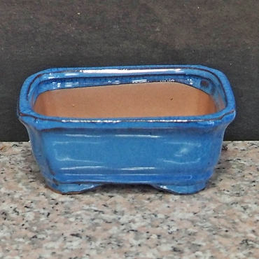 Blue Rectangular Pot
