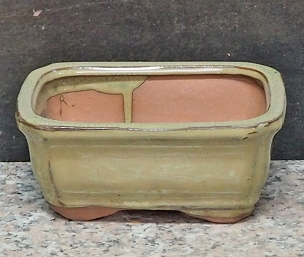 Light Green Rectangle Pot