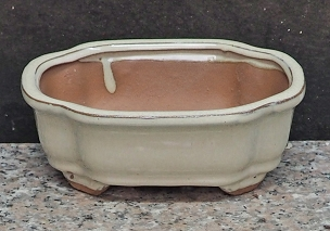 White Rectangular Pot