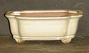 Rectangular Beige Pot
