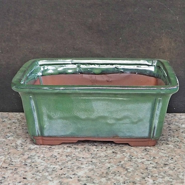 Rectangular Green Pot-Extra Deep