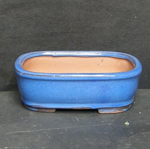 Blue Rectangle Pot