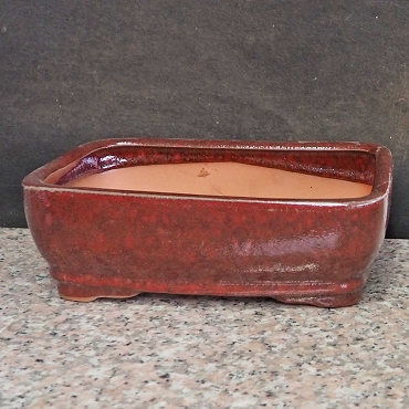 Red Rectangular Pot