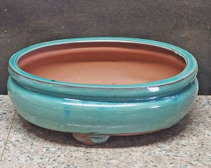 Light Green Oval Pot
