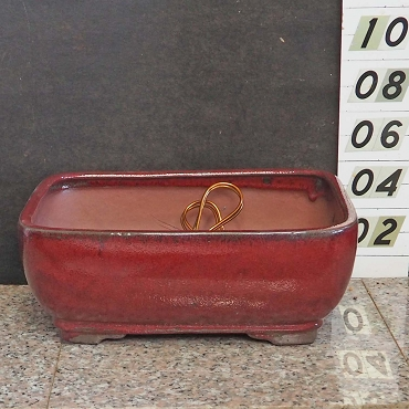 Red Rectangular Pot-Extra Deep