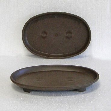 Brown Oval Humidity Tray 11.5 X 8.25 X 1.25