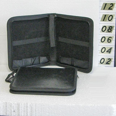 Leather Zippered Hard Bonsai Tool Case 5-Pocket