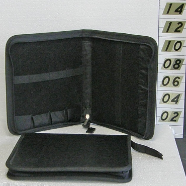 Leather Zippered Hard Bonsai Tool Case 7-Pocket